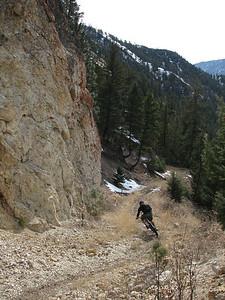 March singletrack!!  Wagonhammer Creek near North Fork, ID.