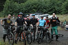 Group of riders about to head out and sample Sickter Lars all-mountain trail loop