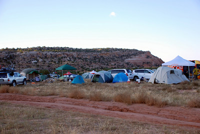 Camp Area Morning of the Race