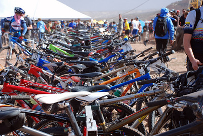 Rack of Bikes Before Start