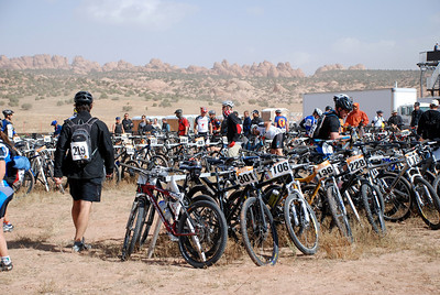 Racks of Bikes Before Start