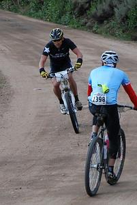Lance Armstrong Comes Down Columbine Climb