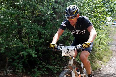 Lance Armstrong Near Powerline Climb