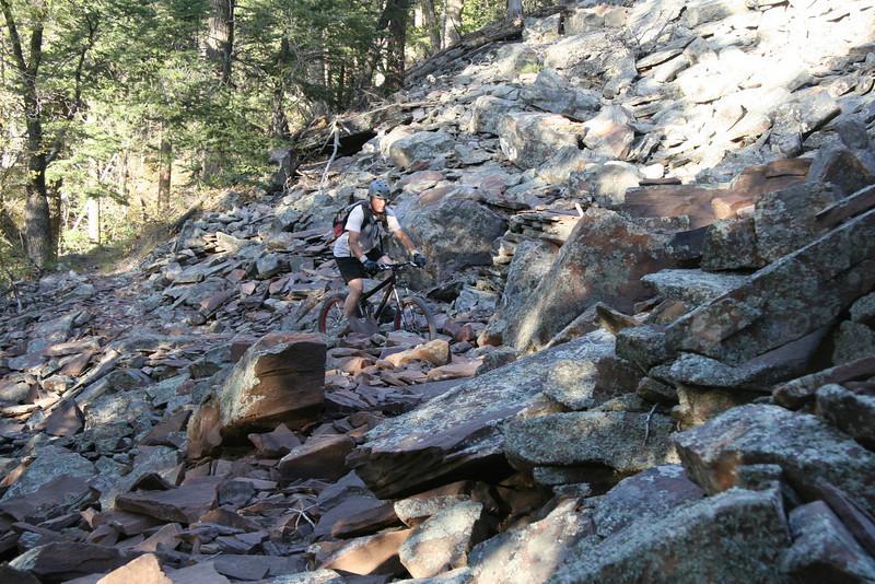 We finally reach the Khumba Rock Fall at 6,000 feet.