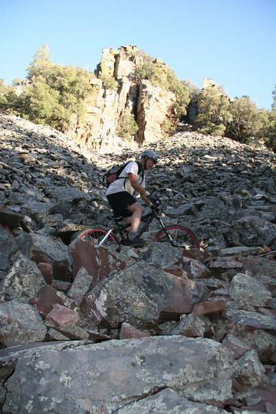 More riding in the rocks.