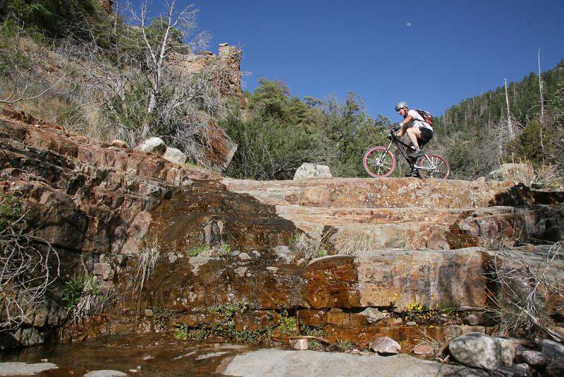 Crossing right where the barrel drops over the falls.