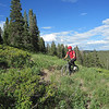 Scenery on this ride is spectacular almost everywhere as we ride through meadows, forests and aspen groves.