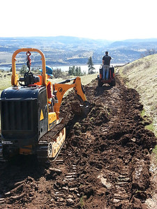 grading old jeep road