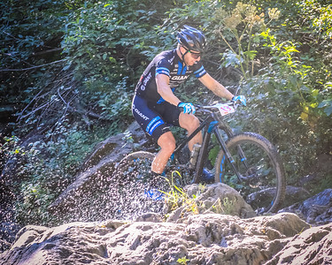 Joe Williams hitting the water on the waterfall section of the 2016 Downieville Classic Downhill. @joew @giantbicycles #bib13 #downievilleclassic2016 #downievilleclassic #downievilledownhill #allmountain #mountainbiking #mtb