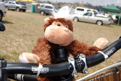 A stearing aid was added to the Crash Monkey\'s bike
