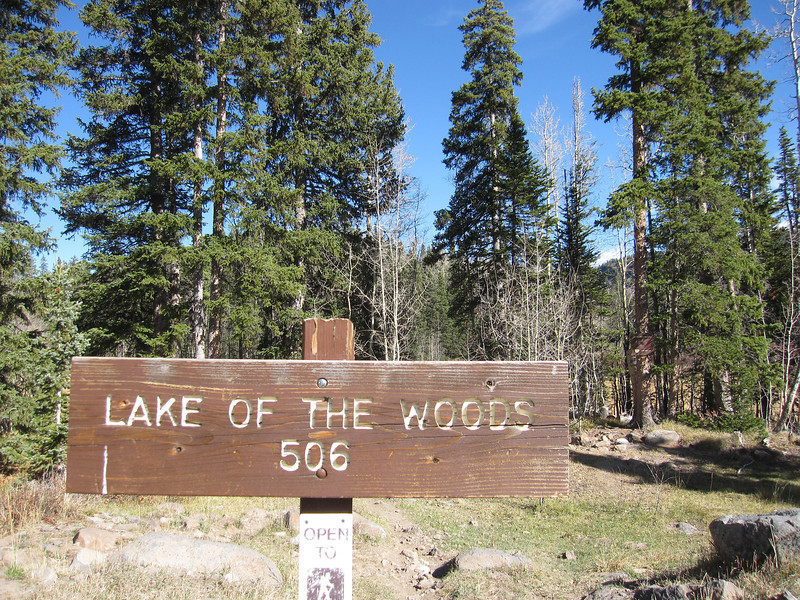 There are hundreds of miles of roads/trails up on the Grand Mesa.  It's the largest Mesa in the world and not far from Grand Junction.  Today we ride a portion of the Lake of the Woods trail #506.  It starts here at 10,100 feet elevation.  Weather is beautiful.