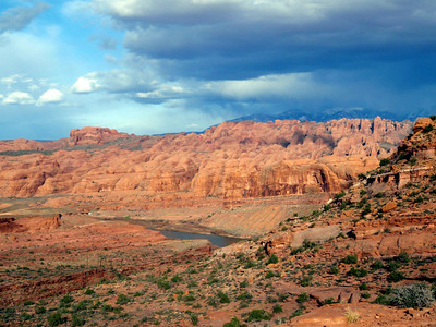 View from Top of Amassa Back Near Moab, UT