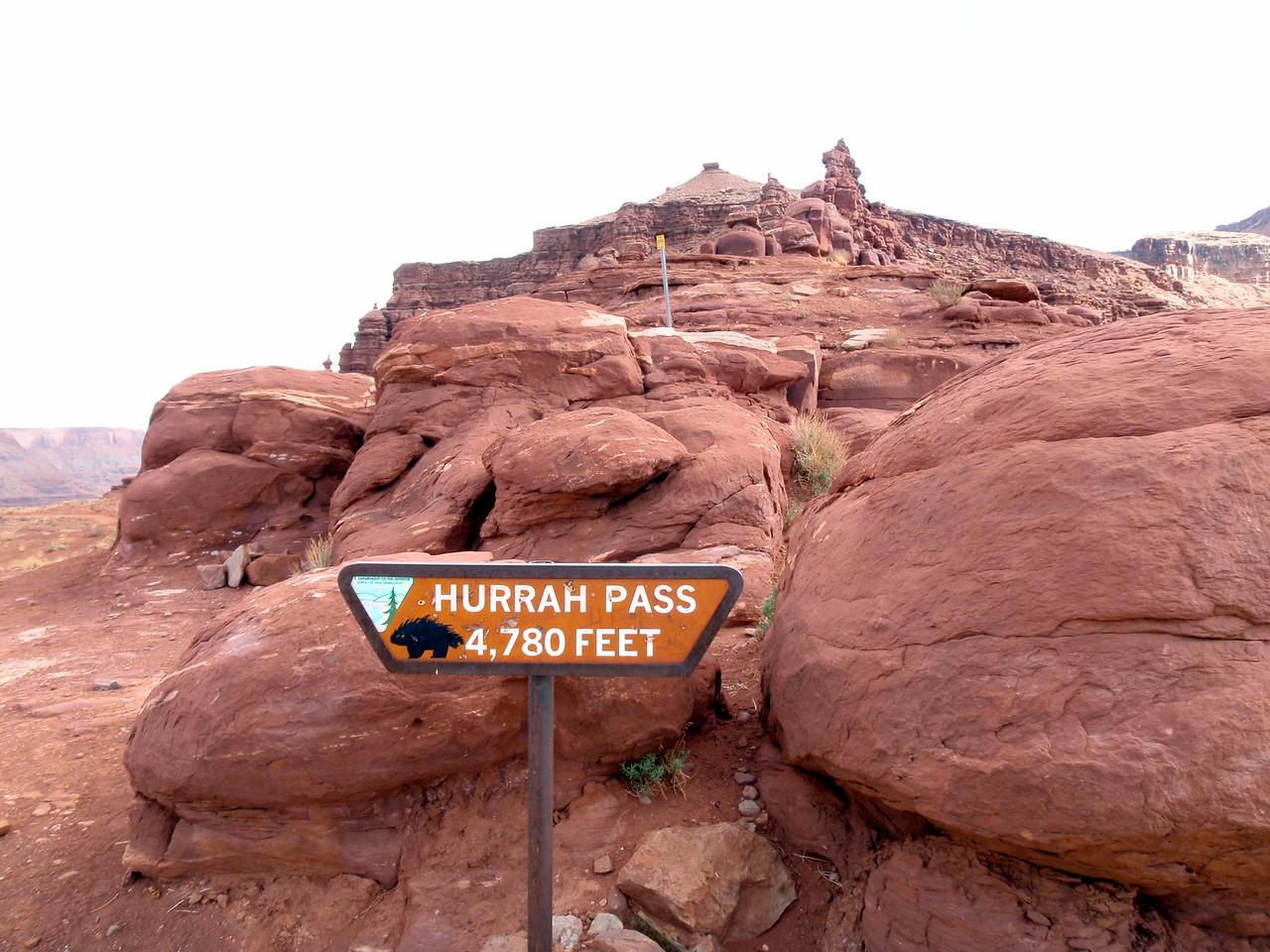 Summit of Harrah Pass Near Moab, UT