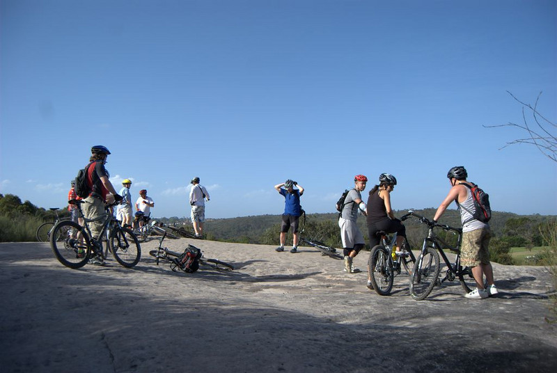 """Riders regrouping at """"wating rock"""""""
