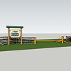 3D model of proposed access barrier