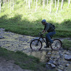 I cross this small creek just for fun.  Something any capable rider could do if they were so inclined.