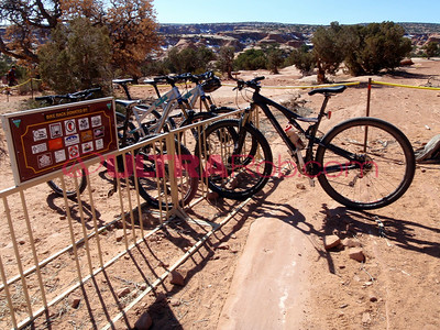 Bike Rack at Gemini Bridges