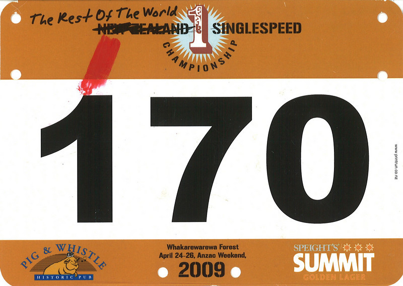 Rest of the World (NZ) Singlespeed Championship 2009