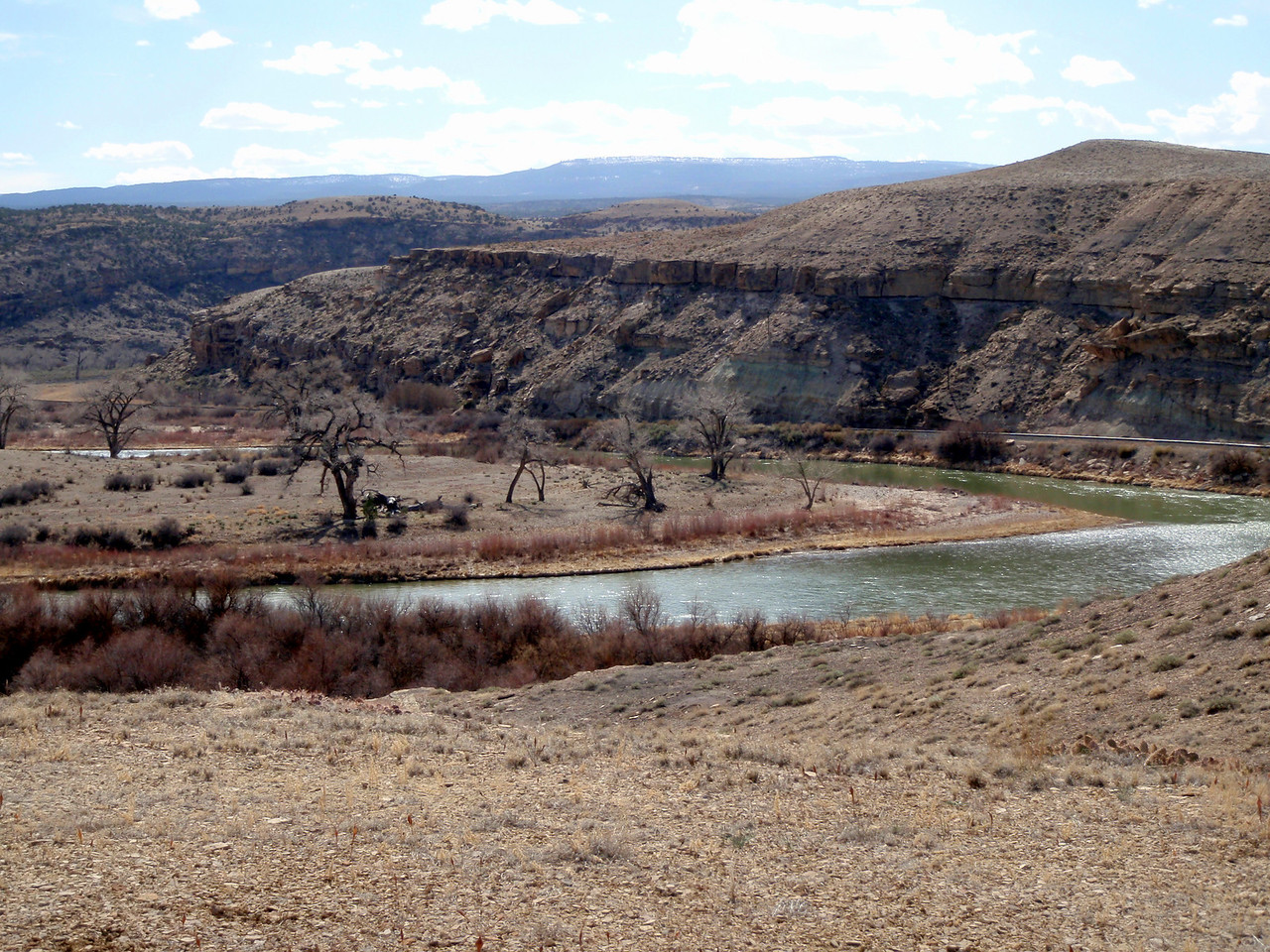 Gunnison River from Gunnision Bluffs Trail