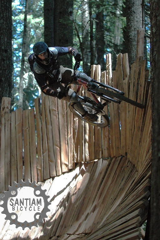 (BRMBA) Troy Munsell (trail manager of Granny's Kitchen) on wall ride
