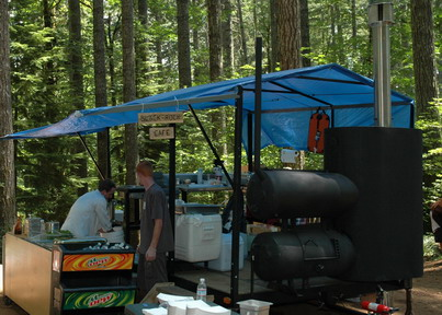 """""""Black Rock Cafe"""" at BRMBA shuttle day event (2006 July 22) hosted by TracE Smith (gourmet chef)"""