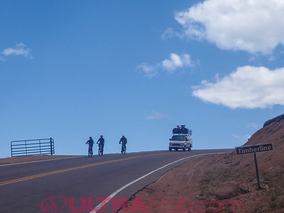 Bike Tour Group on the Pikes Peak Highway