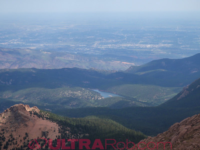 Colorado Springs from the Pikes Peak Highway