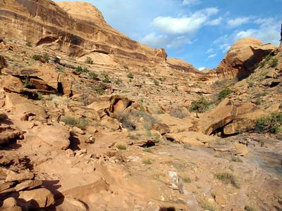 Bottom of Porcupine Rim Trail
