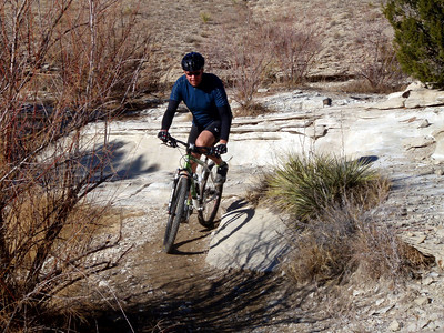 Dave Mountain Biking at Pueblo State Park