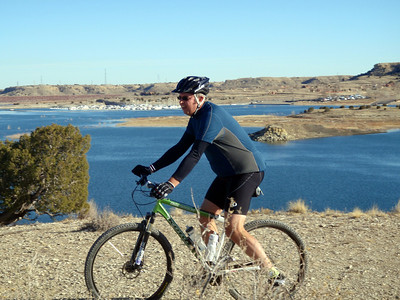 Dave Mountain Biking at Pueblo Reservoir