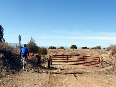 Red Gate at Spot to Start Mountain Biking at Pueblo Reservoir