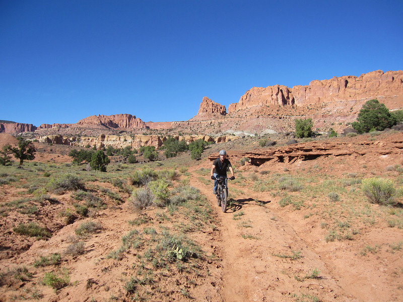 Today we do desert riding on our mountain bikes.  The goal is to explore a trail system that parallels Sulphur Creek about 3 miles east of Torrey.