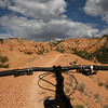 One of those theme shots that blends bike and trail together.  This section flows very nicely.