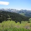 You'll top out at about 9,900 feet elevation for a short ride.  This shot looks across Big Cottonwood Canyon.