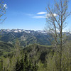 Looking across Big Cottonwood Canyon at ski resort country and some of Solitude's trails.