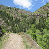 The access road to the mine is in Big Cottonwood Canyon near the Mineral Slab Avalanche area.  We discover that most of this will be a hike with your bike situation.  That said, it's good exercise.