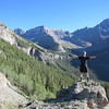 Standing in front of Blaine Basin at Wilson Creek Tr summit, 11,000 feet.