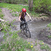 "Last obstacle before hitting the road.  This stream rides pretty well and is about 8"" deep."