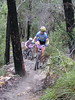 Rosi King leads NSW State Series winner Kimberly Fleming up the final climb