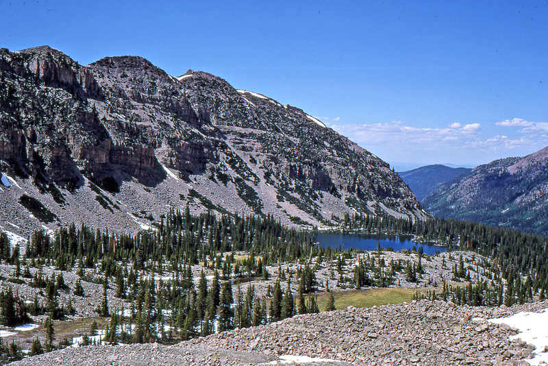 Amethyst Lake from north ridge of Ostler Peak.