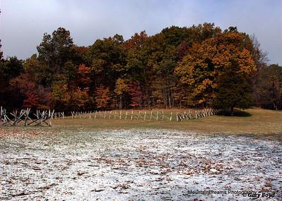 Autumn Snow, Humpback Rocks Visitors Center, VA