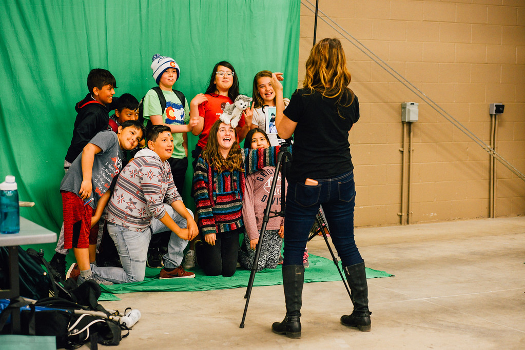 . Students reqady for their closeup. (Trail-Gazette)