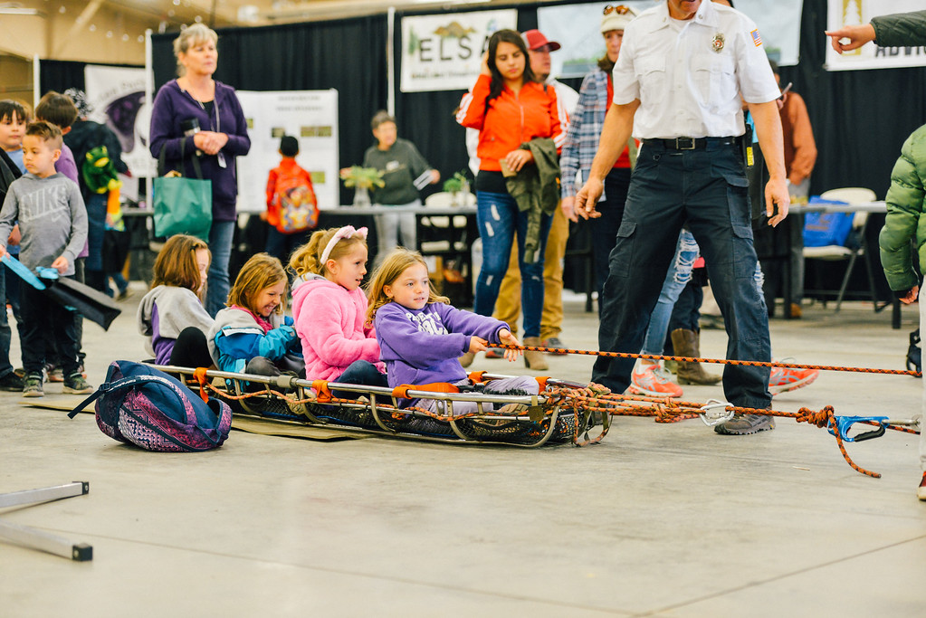. Young girls learning rescue skills. (Trail-Gazette)