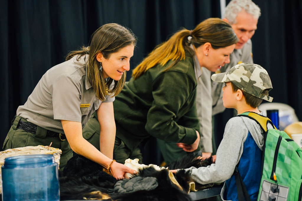 . Students learn about nature. (Trail-Gazette)