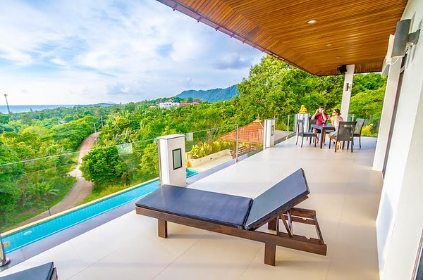 The Mountain House Villa Upper Level Terrace and Views