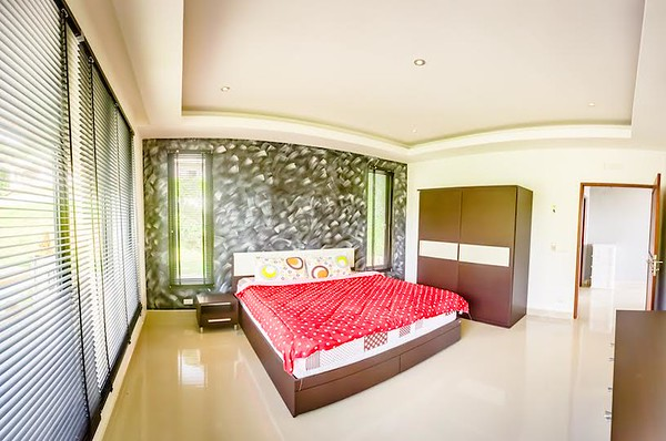 The Mountain House Villa Upper Level Second bedroom built at the back of the apartment