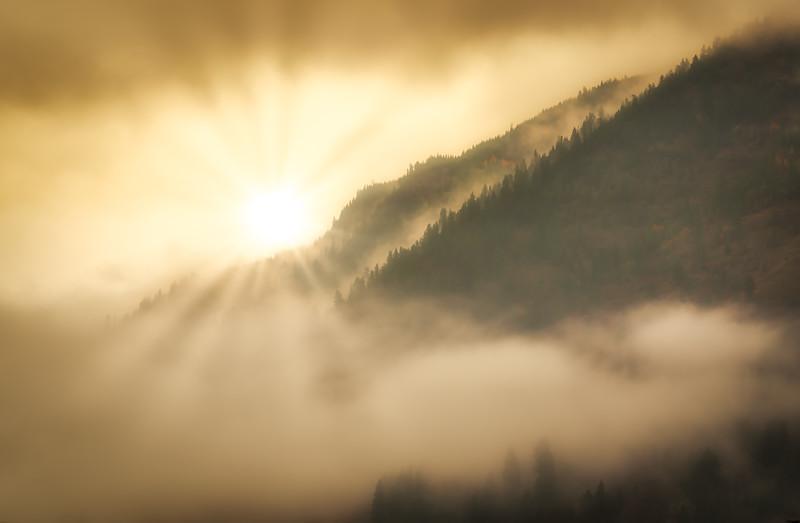 Sunrise on Misty Mountain