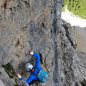Joe Ripperger on Mount Louis, Canadian Rockies, Alberta Canada