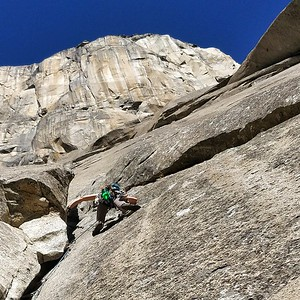 Audrey Ahlholm on El Capitan, California