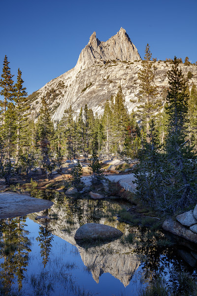 Cathedral Peak in a Pond